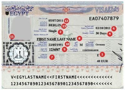 Visum Ägypten