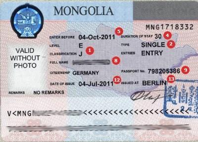 Visum Mongolia